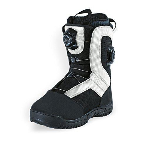 Hmk Snowmobile Boots (HMK Men's Summit Dual Boa Boot (White, Size 14))