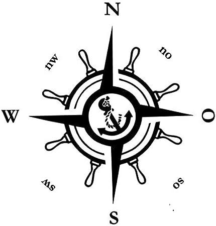 Generic Kompass Polarstern Aufkleber 20x20cm Oder 30x30cm Windrose Aufkleber Für Caravan Wohnmobil Wohnwagen Auto Oder Als Wand Tattoo 233 20c20cm Schwarz Matt Garten