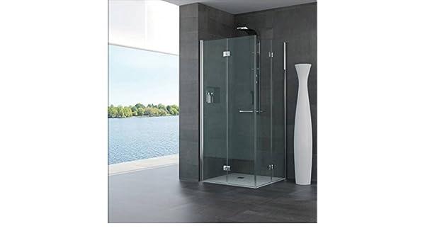 Mampara de baño para minusválidos 70 x 70 cm modelo cristal transparente Donatella Compribene H190 cm, color plateado: Amazon.es: Bricolaje y herramientas