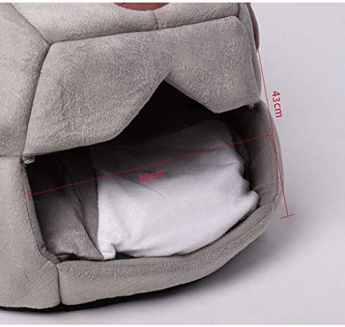 ペットベット 巣フォーシーズンズユニバーサルサマークローズドハウスヴィラケンネルハウスペットワームキット ベッド・ソファ SHANCL (Size : M:49*43cm)