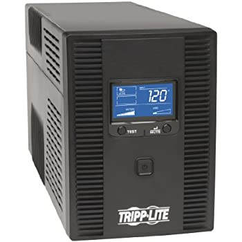 Tripp Lite 1300VA UPS Battery Back Up, AVR, LCD Display, 8 Outlets, 120V 720W, Tel & Coax Protection, USB (SMART1300LCDT)