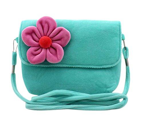 Freedi Cute Little Girls Crossbody Purse Handbag 3D Flower Princess Zipper Bag for Toddlers Preschoolers Fashionable (Party Girls Handbag)