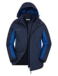Mountain Warehouse Thunderstorm Mens 3 in 1 Jacket Navy Large