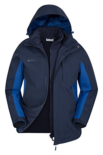 Mountain Warehouse Thunderstorm Mens 3 In 1 Jacket - All Season Coat Navy Medium