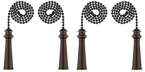 Ciata Lighting Trophy Pull Chain, Oil Rubbed Bronze - 4 Pack by Ciata