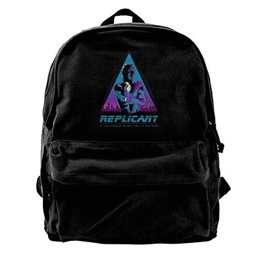 WUHONZS Canvas Backpack Like Tears in Rain Blade Runner Rucksack Gym Hiking Laptop Shoulder Bag Daypack for Men Women