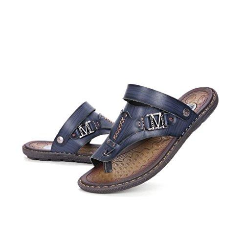 U-mac Heren Slippers Thong Sandalen Comfortabele Slip Op Antislip Zomer Strand Casual Slippers Blauw