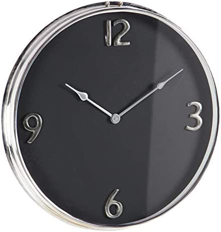 Deco 79 43521 Stainless Steel Wall Clock