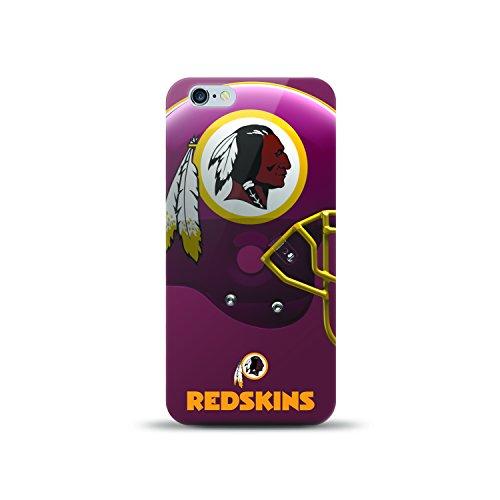 Washington Gel - Mizco NFL-HL7P-RSKN iPhone 7Plus Helmet Series TPU Gel Case for NFL Washington Redskins