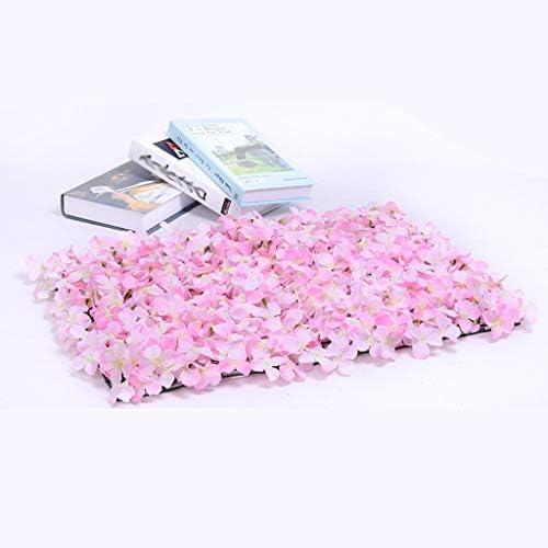 装飾的な人工花のパネルの壁の装飾装飾的なシルクの装飾の背景1個 (Color : Pink)