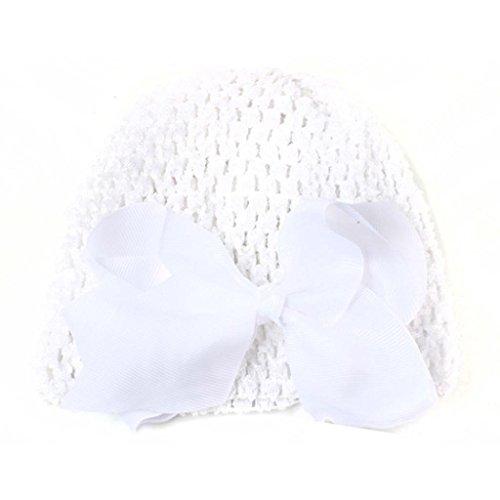 Crochet Heart Pin (Gotd Baby Girl Boy Infant Toddler Knitting Wool Crochet Hat Soft Cap + Hairpin (White))