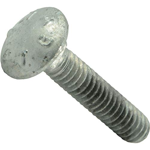 Hard-to-Find Fastener 014973442767 Carriage Bolts, 1/4-20 x 1-1/4, Piece-25 (Galvanized Bolt Carriage Pieces 25)