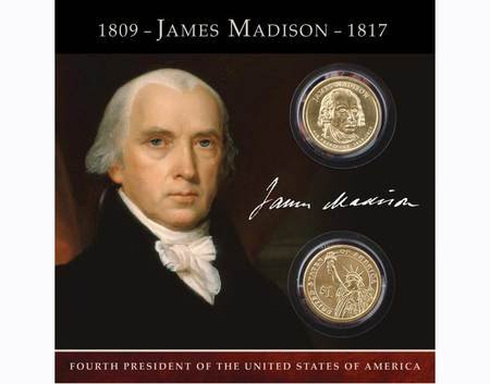 2007 James Madison Coins of America $1 dollar both P and D Uncirculated ()