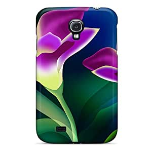 For SiiFcLC8594DfaCw Flower Abstracts Protective Case Cover Skin/galaxy S4 Case Cover