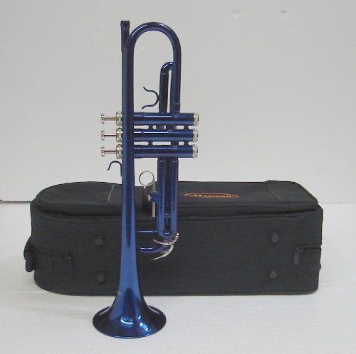 Crystalcello CWD415 B Flat Lacquer plated Trumpet with Carrying Case