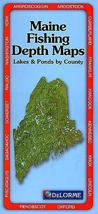 Maine Depth Maps Atlas: Lakes... book by DeLorme Mapping ... on