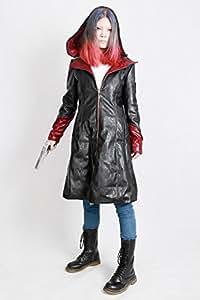 Dante Coat Cosplay Costume Leather Windbreaker Jacket for Women S
