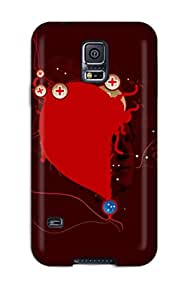 Waterdrop Snap-on Bring Your Bombs Red Black Plus We Gotto Dominate World Blue Ball Case For Galaxy S5