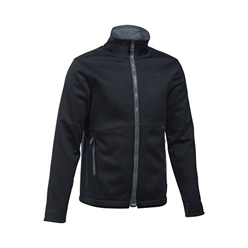 Under Armour Boys' Storm Softershell Jacket, Black/Graphite, Youth Medium by Under Armour