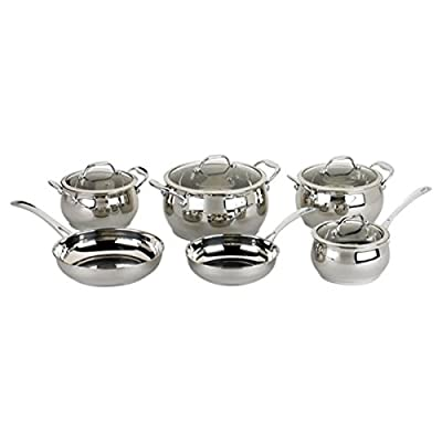 David Burke 10-Piece Stainless Steel Cookware Set