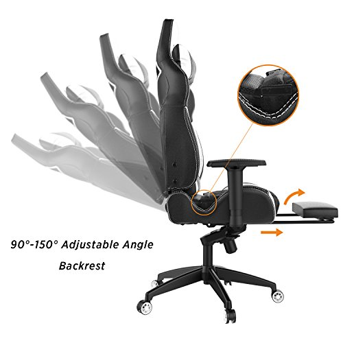 41xC6d7XJkL - Gamdias-Multi-color-RGB-Gaming-Chair-High-Back-With-Footrest-Adjusting-Headrest-and-Lumbar-Support-Black-White-ACHILLES-P1