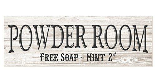 Powder Room Rustic Wood Wall Sign 6x18 -