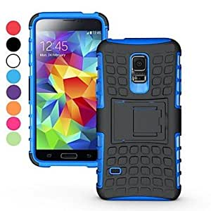 YXF 2 in 1 Dual-color Detachable PC+TPU Hybrid Case with Kickstand for Samsung Galaxy S5 mini SM-G800(Assorted Colors) , Red