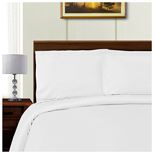 Superior 1000 Thread Count Silky Soft Tencel Blend Wrinkle Resistant, Button Closure 3-Piece Full/Queen Duvet Cover Set, Solid White