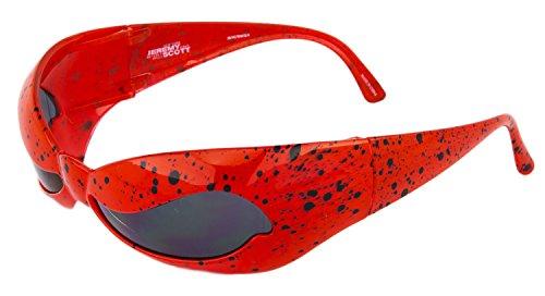 LINDA FARROW Jeremy Scott Superhero Red Splatter Wave Mask NUWAVE ()