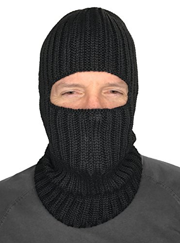(Balaclava Ski Mask - Baby Alpaca Wool- Itch & Allergy Free Face Mask Hood Neck Warmer)