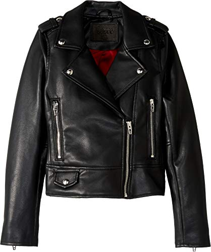[BLANKNYC] Big Girl's Faux Leather Jacket Outerwear, It Takes Two, X-Large