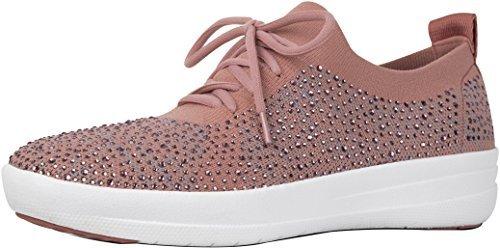Rose / Gris Doux Fitflop Femmes Chaussure De Sport Uberknit F-sombre