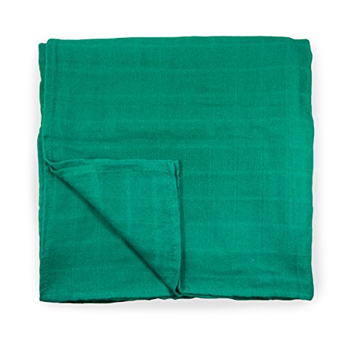 Cute New York Solid Muslin Cotton Blanket (Green) -