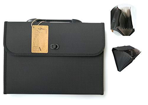 (EIGenS 13 Pockets Expanding File Folder with Handle - A4 Size Expandable File Organizer File Folder Wallet Briefcase Documents Filing)