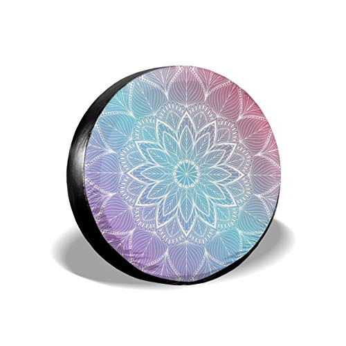 14-17 in NELife Tire Cover Tropical Sunset Polyester Wheel Tire Cover Potable Universal Wheel Covers Powerful Waterproof Tire Cover Fit for Jeep Trailer RV SUV Truck Camper Trailer Accessories