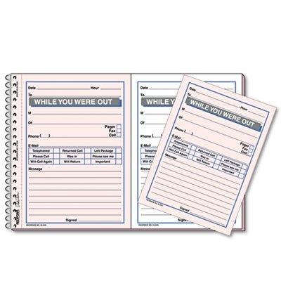 - Desk Saver Line Wirebound Message Book, 5 1/2 x 4, Two-Part, 100 Sets/Book