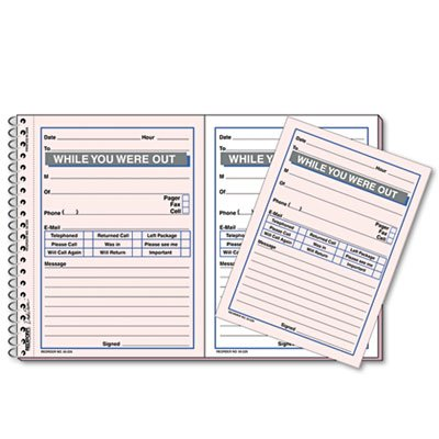 Desk Saver Line Wirebound Message Book, 5 1/2 x 4, Two-Part, 100 Sets/Book by Rediform