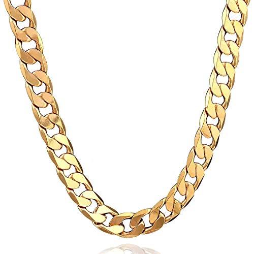 Chelsea Fashionable Men Necklace Exquisite Boy Bracelets Universal Men Pendant 50cm Necklace Gold