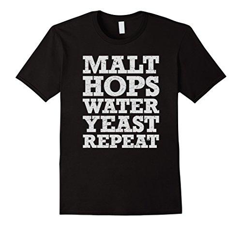 Beer Brewer T Shirt Malt Hops Water Yeast Repeat
