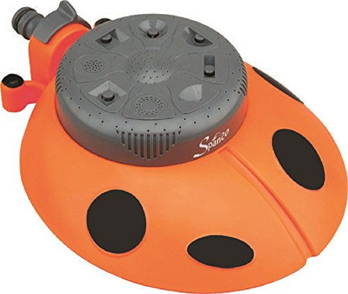 Spanco Plastic Ladybug 8-Pattern Sprinkler (Multicolour)