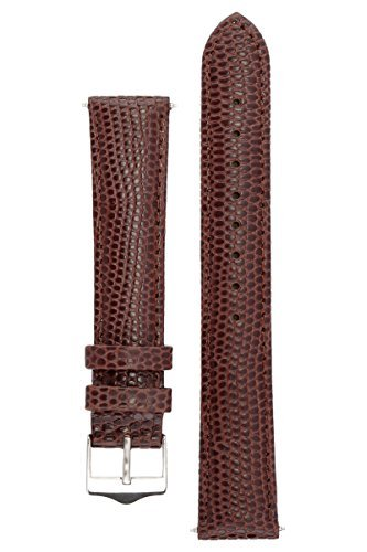 signature-dragon-in-dark-brown-18-mm-short-watch-band-replacement-watch-strap-genuine-leather-silver