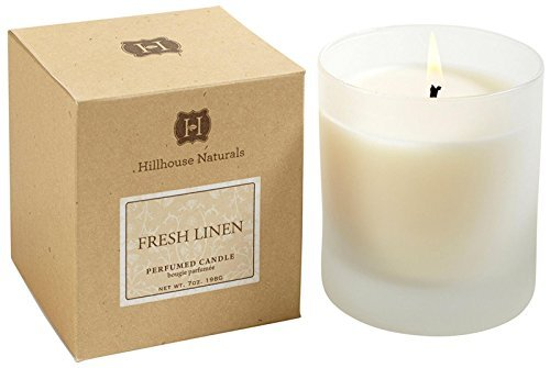 Hillhouse Naturals Fresh Linen Candle Glass 7 Oz.