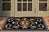 Edinburgh Estate Doormat - Monogrammed Black & Suede G 3 x 5