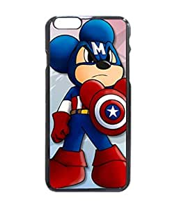 Mickey Mouse Captain America Hard Durable Case Cover Skin for Iphone 6 with 4.7