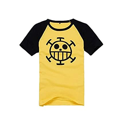 Cosplay One Costume Trafalgar Size Wind T Short Sleeved Shirt Law Piece 6rzq86