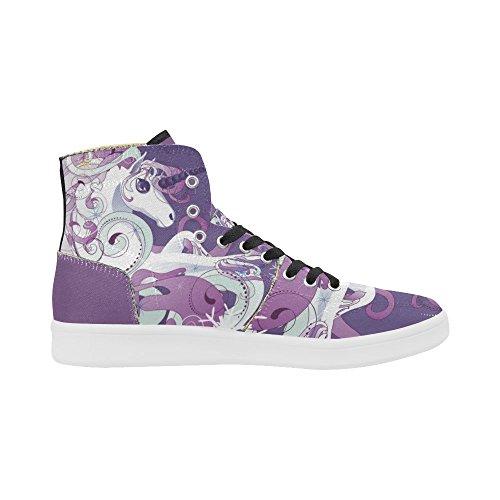 D-story Scarpe Personalizzate Grunge Usa Bandiera High Top Retro Donna Sneaker Multicoloured12