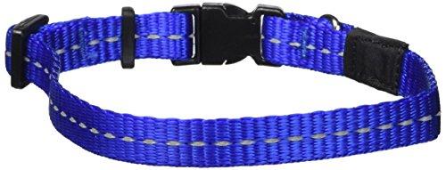 ROGZ Utility Small 3/8-Inch Reflective Nitelife Dog Collar, Blue