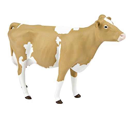 Safari Ltd. Guernsey Cow XL - Realistic Hand Painted Toy Figurine Model - Quality Construction from Phthalate, Lead and BPA Free Materials - For Ages 3 and Up