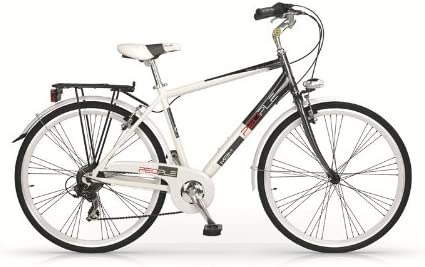 Bicicletta uomo city bike alluminio 28' People bianca 7V MBM