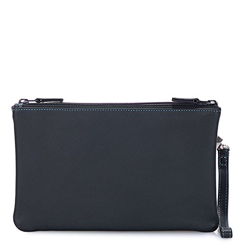 Clutch Pace Leather Mint Black Mywalit Double Purse Zip Pouch Small 1238 qI1vwfA